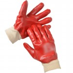 Pair of Red Waterproof Gloves