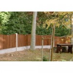 Danbury Scalloped Closeboard Fence Panel (Concave) - Brown Treated