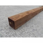 Danbury Softwood Treated Fence Post 100mm x 100mm - Class 4 Quality - Brown Treated