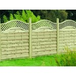 Decorative Florence Fence Panel 1.8m (w) x 1.2m (h) - Green Treated