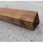 Danbury Softwood Treated Gate Post 150mm x 150mm - Brown Treated