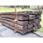 MINI 1.3m Reclaimed Hardwood Railway Sleepers 250mm x 150mm x 1.3m
