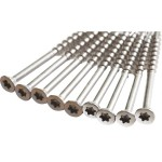 Q-Shades Pebble Grey S/S Decking Screws 4.2mm x 75mm