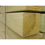 Softwood Planed & Treated Fence Posts 75mm x 75mm - Green Treated