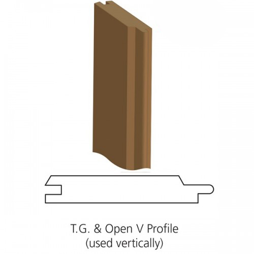 Thermowood t g open v joint cladding 19mm x 117mm for Bathroom t g cladding
