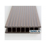 'Q-Deck' Twinson Composite Decking - Bark Brown