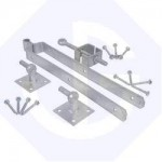 600mm Adjustable Field Gate Hinge Set Hooks on Plates 24""