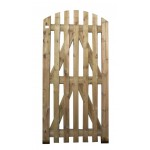 Green Treated Arched Top Palisade Gate (Linnell) 1800mm x 900mm