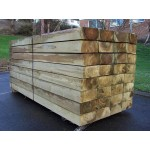 New Green Softwood Treated Railway Sleepers 200mm x 100mm x 1.2m