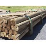 Softwood Treated Half Round Rails - Green Treated