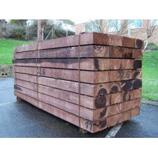 New Brown Softwood Treated Railway Sleepers 200mm x 100mm x 2.4m
