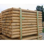 Green Treated Machine Round Timber Poles
