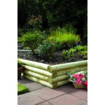 New Green Treated Softwood Mini Railway Sleepers Rounded Edges 100mm x 125mm x 1.8m